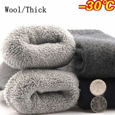 1 Pair Mens Super Warm Heavy Thermal Merino Wool Winter Socks ONE SIZE