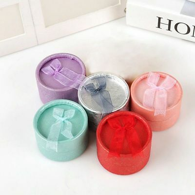 Bow Round Ring Jewelry Gift  Necklace Earring Ring Case Newest Selling