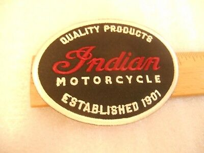 Indian Motorcycles Quality Products Established 1901 Iron on patch