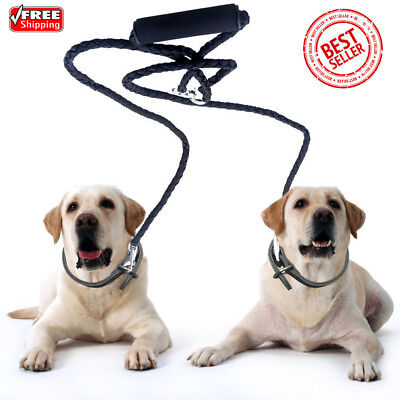 50'' Dual Double Dog Leash Lead Training No Tangle With Soft Handle for Two Dogs