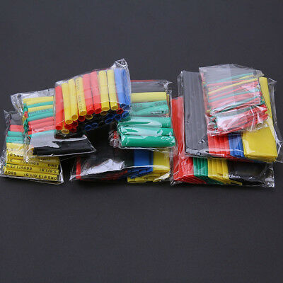 164PCS 2:1 Polyolefin Heat Shrink Tubing Tube Sleeve Wrap Wire Assortment 8 Size