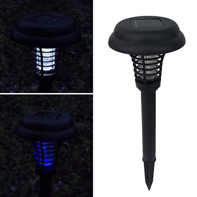 Solar Powered Mosquito Killer Bug Zapper Electronic Insect Worm Killer LED Outdo