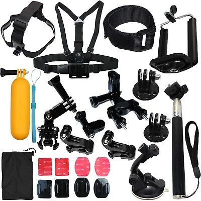 Head Chest Mount Floating Monopod Accessories Kit For GoPro Hero 4 5 6 7 Camera