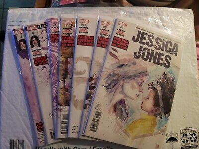 Jessica Jones #7 9 10 11 12 14 15 Comic Lot of 7 Marvel Bendis