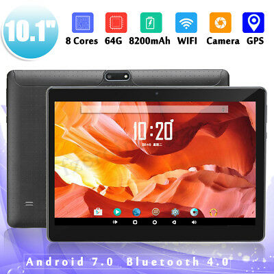 Gold 10.1'' 4G+64GB Tablet PC Android 7.0 HD Bluetooth 2 SIM Card Octa Core WIFI