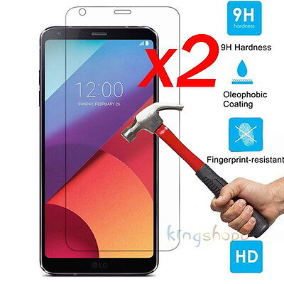 Per LG G6 Q6 9h temperato vetro Screen Protector pellicola Film Guard -1-2pk