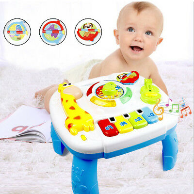 Musical Learning Table Baby Toys 6 to12 Months up-Early Education Activity Xmas