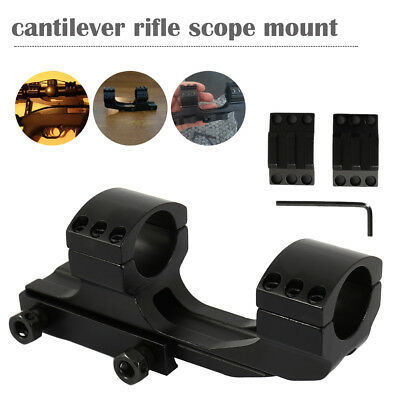 """25.4mm/1"""" Dual Ring Cantilever Quick Release Scope Rail Mount Picatinny Weaver"""