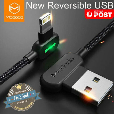 Genuine MCDODO USB Cable Fast Charging Charger iPhone X 8 Plus 7 6 5 XS Max iPad