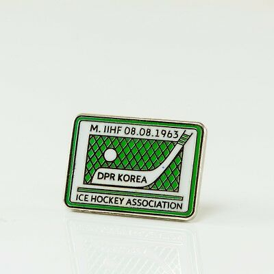 Ice Hockey Federation of DPRK pin, badge, lapel, hockey