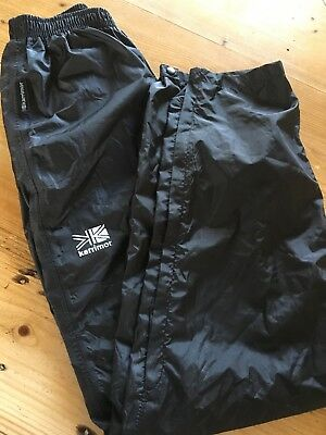 KARRIMOR waterproof Lined Elastic  waist trousers AGE 13 YEARS EXCELLENT COND
