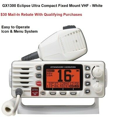 Standard Horizon Ultra Compact GX1300W Eclipse Marine Radio: Submersible Rated