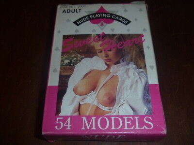 Vintage Playing Cards Sweet Heart Nudes 54