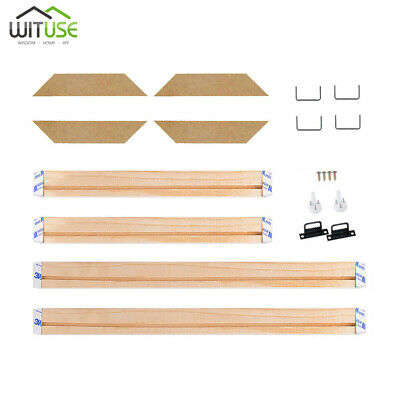 DIY Canvas Stretcher Bars Frame Strip Kit For Oil Painting Print Assembly Wooden