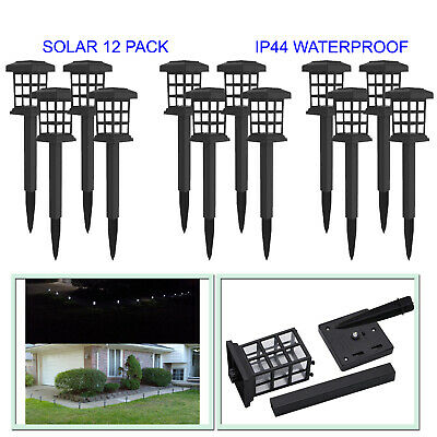 LED SOLAR POWERED Pathway Light 6 PACK Outdoor Walkway Garden Lantern Landscape