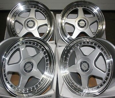 "ALLOY WHEELS X 4 17"" SILVER DR-F5 FOR 4x100 OPEL VAUXHALL ASTRA MERIVA TIGRA"