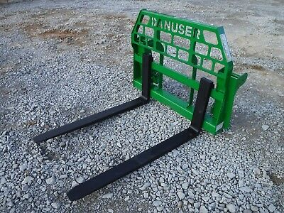 """John Deere Tractor Attachment - 48"""" Pallet Forks 600 700 Series - Ship $199"""