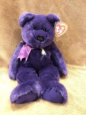 1998 TY 1st Princess Diana Beanie Buddy -Tag in Case! - RARE-VINTAGE-EXCLNT