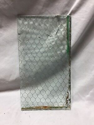 1 Piece Vintage 8X15 Industrial Chicken Wire Safety Security Glass Old 492-18C