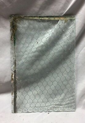 1 Piece Vintage 10X16 Industrial Chicken Wire Safety Security Glass Old 493-18C