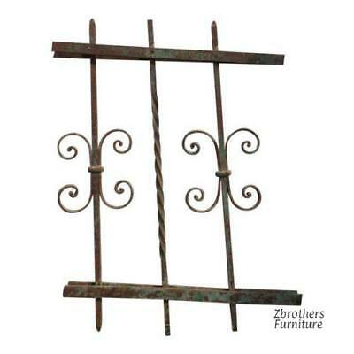 Antique Victorian Iron Gate Window Garden Fence Architectural Salvage #928