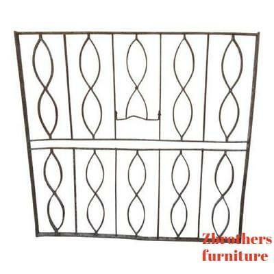 Antique Victorian Iron Gate Window Garden Fence Architectural Salvage Door #630