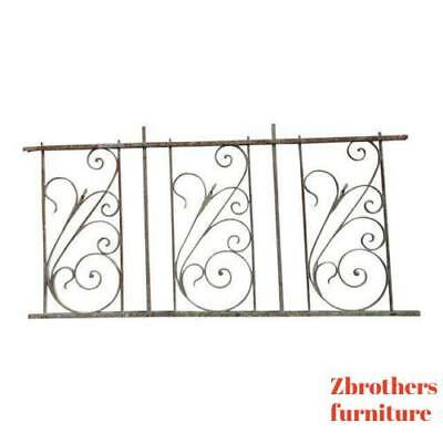 Antique Victorian Iron Gate Window Garden Fence Architectural Salvage #925