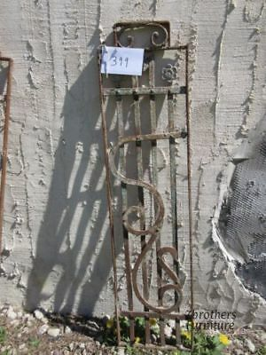 Antique Victorian Iron Gate Window Garden Fence Architectural Salvage Door #399