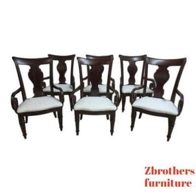Set Of 6 Pennsylvania House Cherry Cortland Manor Regency Dining Room Arm  Chairs