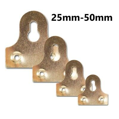 12 X LARGE 50mm Brass Picture Wall Bracket Flat Mirror Photo