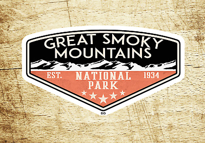"""Great Smoky Mountains Decal Sticker Vinyl 3.75"""" x 2.25"""" National Park Tennessee"""