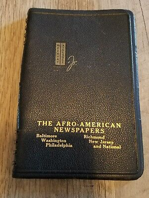 The Afro-American Newspapers 1945 Civil Rights Era Agenda Planner Philadelphia
