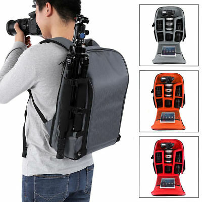 Camera Bag Backpack Waterproof Photography Outdoor Nylon Resistant Large SP