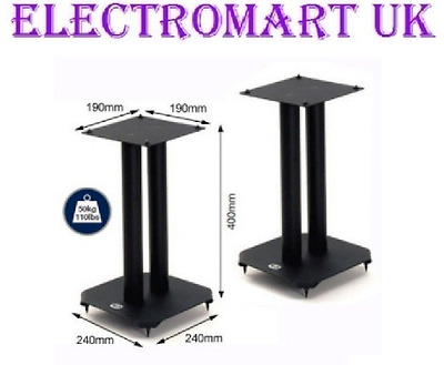 Atlas Loudspeaker Speaker Floor Stands Black Height 40Cm 400Mm