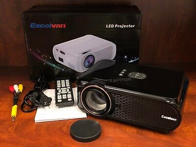 Excelvan EHD02 Portable Mini LED Multimedia Projector 1000 Lumens