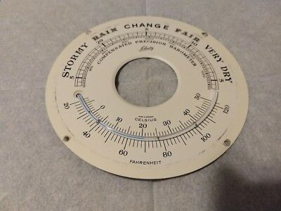 Vintage SCHATZCOMPENSATED PRECISION BAROMETER THERMOMETER FACE- W GERMANY