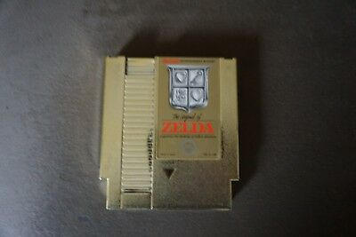 The Legend Of Zelda Nintendo NES Gold Cart NES vintage authentic  NINTENDO Game