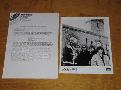 Marillion - 1985 Uk Promo Press Release With Promo Photo