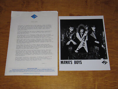 Mama's Boys - 1984 Uk Promo Press Release & Promo Press Photo