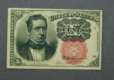 1874 U.s. Fractional Currency 10 Cents