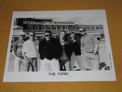 The Farm (Madchester) - Original Uk Promo Press Photo (A)