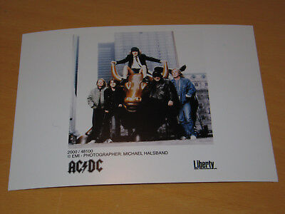Ac/dc - Original Uk Promo Press Photo (B)