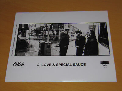 G. LOVE & SPECIAL SAUCE - 2 x ORIGINAL UK PROMO PRESS PHOTO (A)