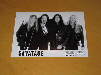 Savatage - Original Uk Promo Press Photo (X)