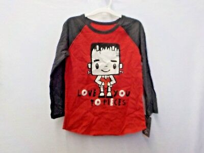 "Boys Size 4T Universal Studios Red ""Love You To Pieces Tee Nwt #12751"