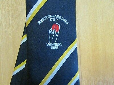 Hampshire County Cricket Club 1988 Benson & Hedges Winners Tie by DP Leisure