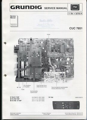 Grundig Service Manual  CUC 7851  E 72-911 TOP   M 72-795 / 9 TOP usw.