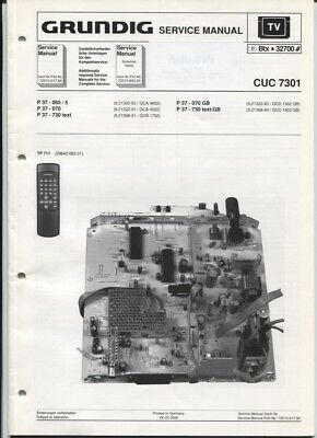 Grundig Service Manual  CUC 7301   P 37-065/5   P 37-730 text usw.