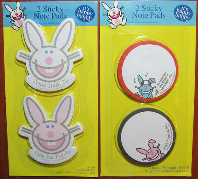 New*OFFICIALLY LICENSED*Sealed*HAPPY BUNNY Sticky Notes