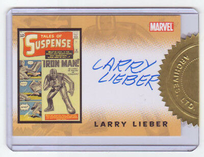 2008 Rittenhouse Iron Man 1 Movie Trading Card Larry Lieber Case Topper Auto
